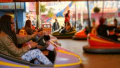 Bumper Cars or Dodgems Stock Footage