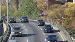 Traffic on a NYC expressway Stock Footage