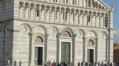The facade of the Cathedral of Pisa Stock Footage