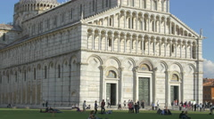 The imposing Cathedral of Pisa seen during the day Stock Footage