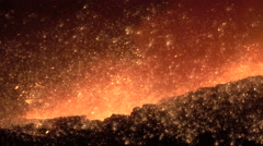 molten metall sparks - stock footage