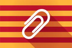 Long shadow Catalonia vector flag with a clip - stock illustration