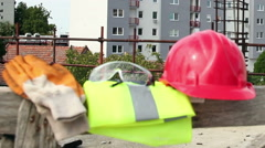 Personal Protective Equipment, Construction Stock Footage