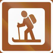 Norwegian service road sign - Ski trail Stock Illustration