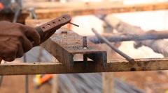 Stock Video Footage of worker welding steel metal