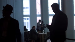 Scene of Modern Business and Technology Stock Footage