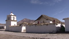 Parinacota vilage in the Andes 1 Stock Footage