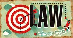 Stock Illustration of Law on Poster in Grunge Design