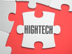 HighTech - Puzzle on the Place of Missing Pieces - stock illustration
