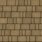 Sand Color Pavement Laid as Squares and Rectangles - stock illustration