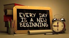 Every Day is a New Beginning. Inspirational Quote Stock Illustration