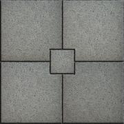 Gray Paving Slabs in the form of Small Brick Surrounded Four Large Square Stock Illustration