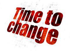 Stock Illustration of Timeline concept: Time to Change on Digital background
