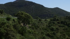 Stock Video Footage of View Of Mountains Landscape and serpentine road in Malaga region, Andalusia,