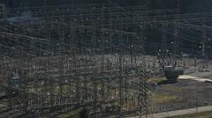 Hydroelectric power station at  Altınkaya Dam. Stock Footage