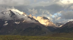 Sunrise over Torres del Paine 5 Stock Footage