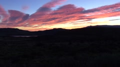 Sunrise over Torres del Paine 7 Stock Footage