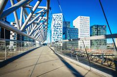 Modern business architecture in the center of Oslo, Norway - stock photo
