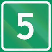 Norwegian road sign - Road badge for stem road - stock illustration