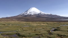 Vulcano Parinacota in the horizon Stock Footage