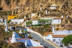 Guadix, villages in the province of Granada Andalucia, Southern Spain - stock photo