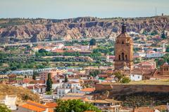 Guadix, villages in the province of Granada Andalucia, Southern Spain Stock Photos