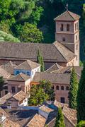 View of the Historical City of Granada Andalucia Spain - stock photo