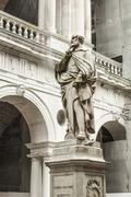 Statue of the famous Italian architect of the Renaissance Andrea Palladio Stock Photos