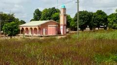 Africa islamic church city Stock Footage