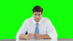 Worried businessman banging his fists Stock Footage