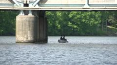 Fishing under the bridge Stock Footage