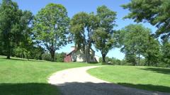 Gray barn and farm house  Stock Footage