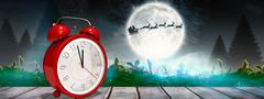 Composite image of alarm clock counting down to twelve Stock Photos