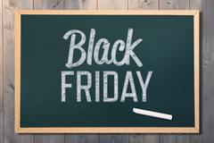 Composite image of black friday advert Stock Photos