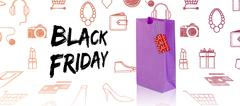 Composite image of black friday advert Stock Illustration