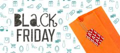 Stock Illustration of Composite image of black friday advert
