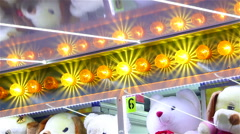 Funfair colored lights flashing - stock footage