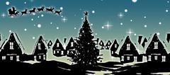 Stock Illustration of Composite image of christmas scene silhouette