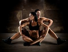 Athletic couple Stock Photos