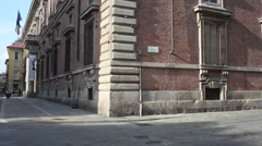 View of Brera district Stock Footage
