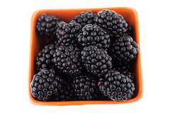 Fresh blackberries in bowl Stock Photos
