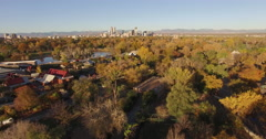 Aerial Shot Denver City Park Zoo Stock Footage