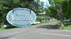 A quaint New England town sign Stock Footage