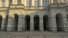 Staszic Palace in Warsaw Stock Footage
