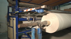 The paper reel. Production of toilet paper Stock Footage