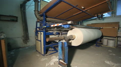 Production of toilet paper. General view Stock Footage