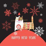 Beautiful Russian cat Stock Illustration
