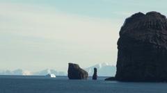 Summer in Antarctica - Deception Island Stock Footage