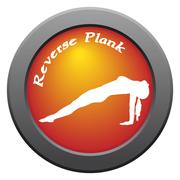 Yoga Reverse Plank Pose Red Icon - stock illustration