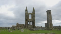 St Andrews Cathedral Stock Footage
